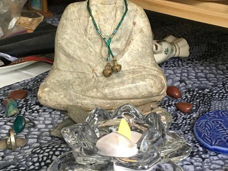 Starting a morning meditation