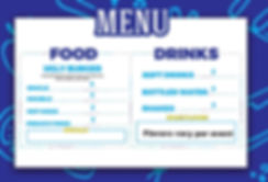 Ugly Burgers menu