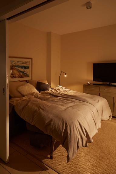 Wohnzimmer Schlafcouch Austernperle