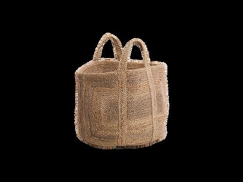 Braided Hemp Storage Basket in Natural