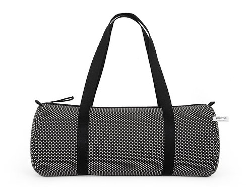 Duffle Bag In Black and White Dot