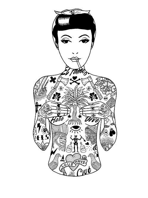 Tat Girl in Black by El Famoso
