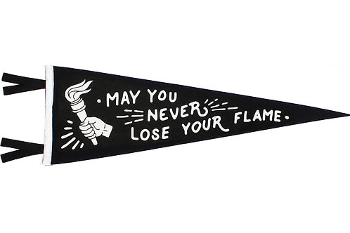 Oxford Pennant May You Never Lose Your Flame