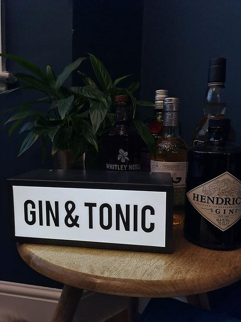 Gin & Tonic Light Box