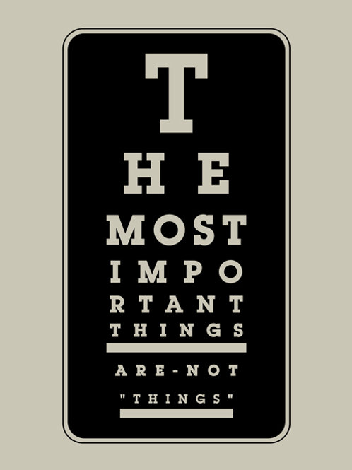 Con Della Vedova Print - The Most Important Things