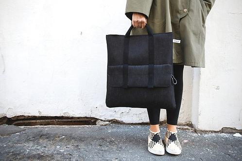 Two Way bag in Black Denim