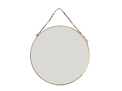 Kiko Round Mirror in Brass, Small & Large