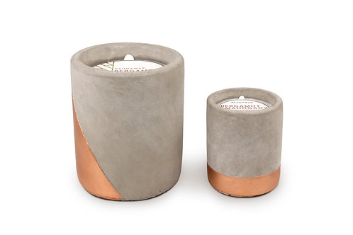Bergamot and Mahogany Urban Candle in Concrete and Copper