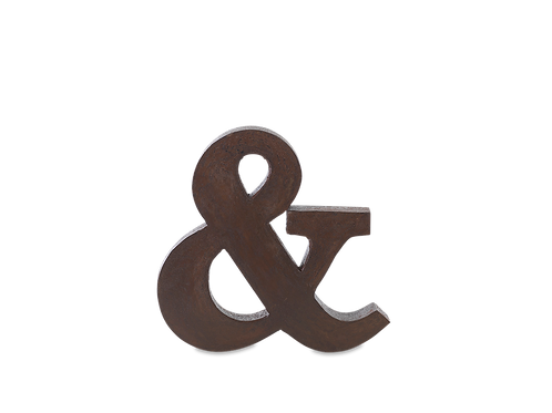 Industrial Metal Letter Distressed Iron
