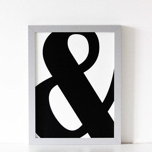 We Are Amused Ampersand Print