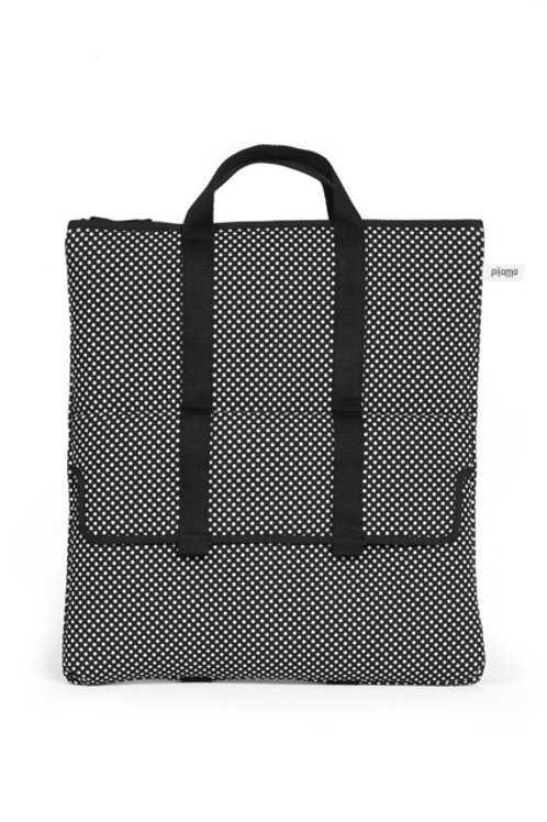 Two Way Bag in Black and White Dot