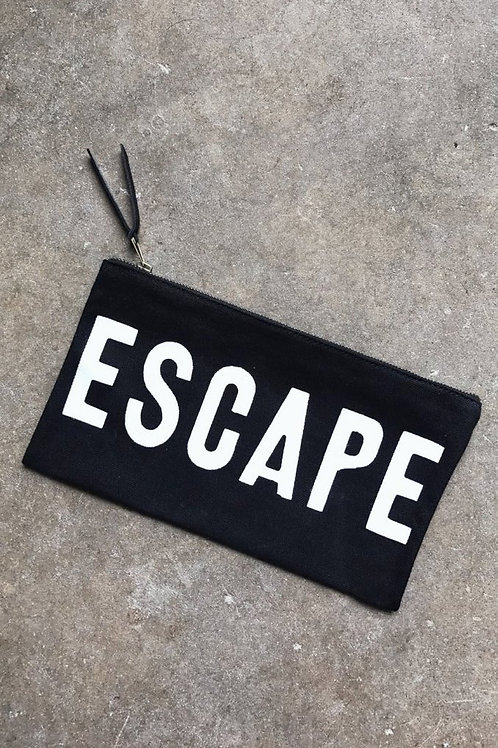 Escape Travel Clutch in Black
