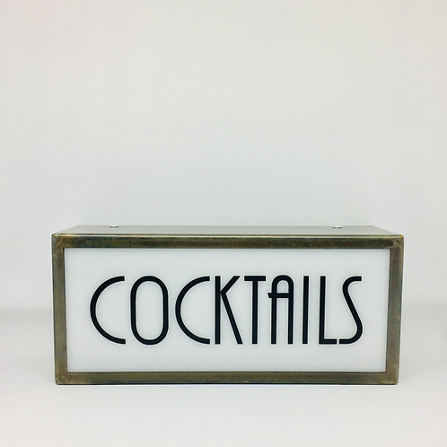 Cocktails Industrial Lightbox