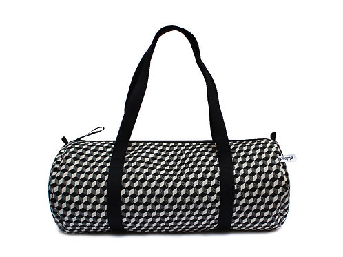 Duffle Bag in Optical Cheque