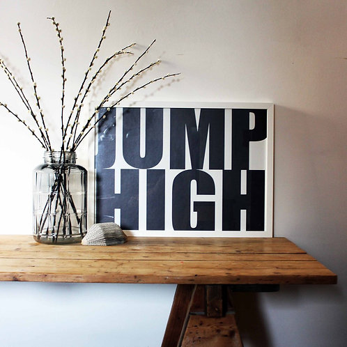 We Are Amused Jump High Print