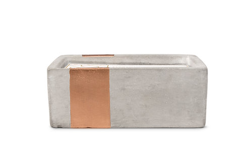 Bergamot and Mahogany Urban Rectangle Candle in Concrete and Copper