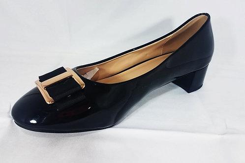 Godiva Black Slip-On Heel