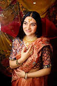 Girl in Sari Smiling