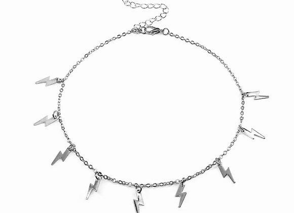 Lightening Chocker Silver