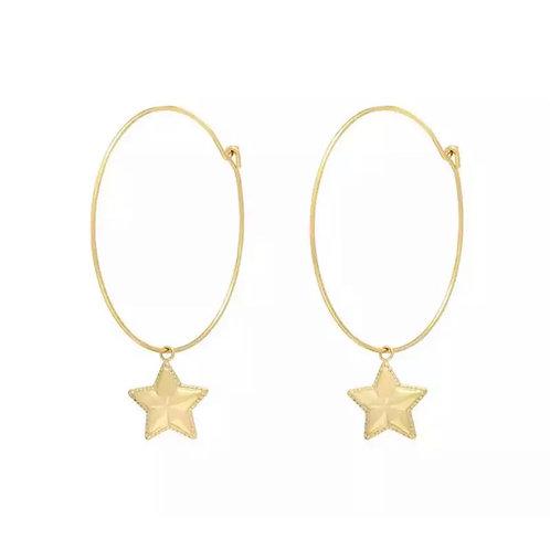 Simple Star Hoops Gold