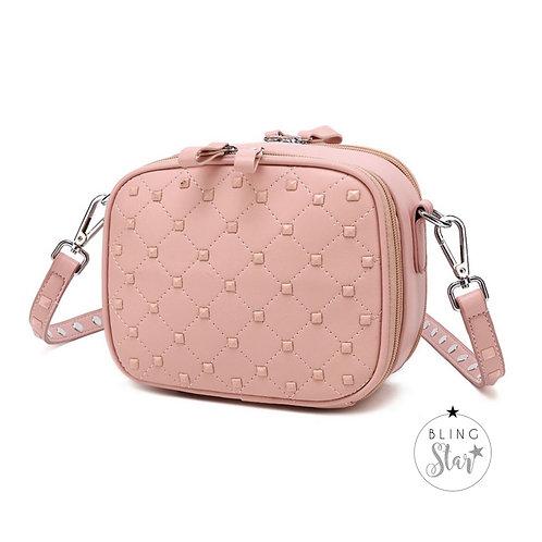 Venice Studded Box Bag Pink