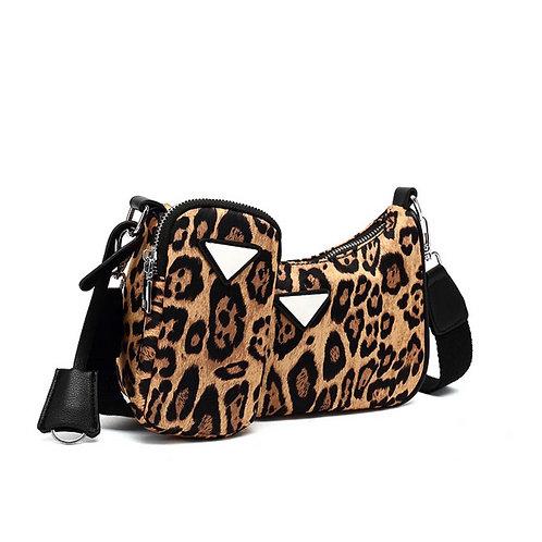 Leopard Multi Pouch Bag