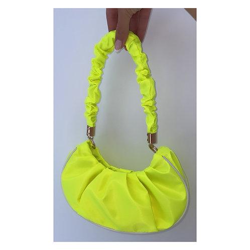 Sports Luxe Ruffle Handbag Neon