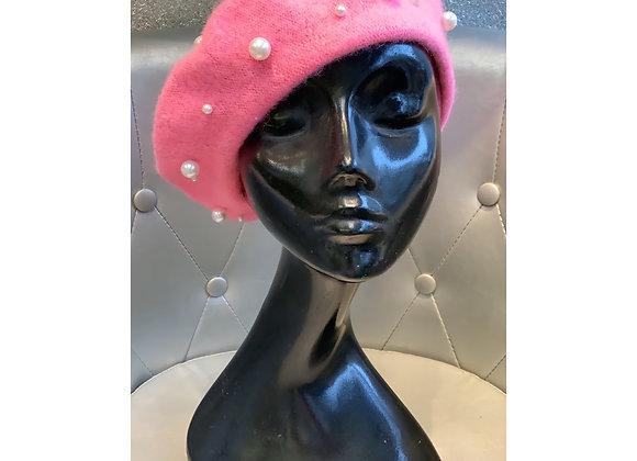 Pearl Beret Pink