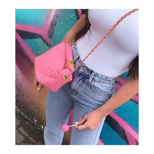 Clarissa Quilted Bag Pink