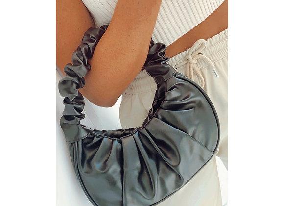 Jessie Scrunchie Bag Black