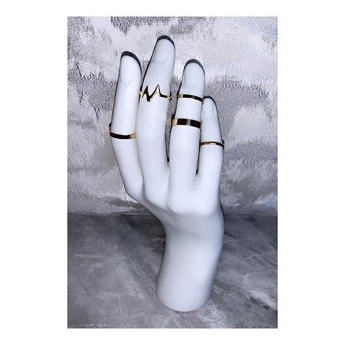 Lightening Ring Pack Gold