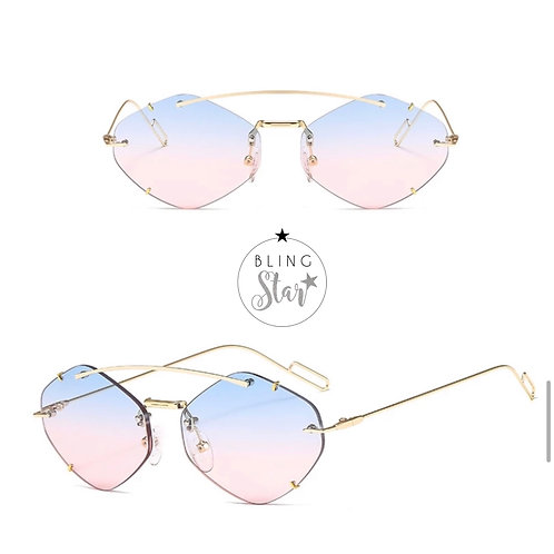 Colorado Oval Sunglasses Pink/Blue