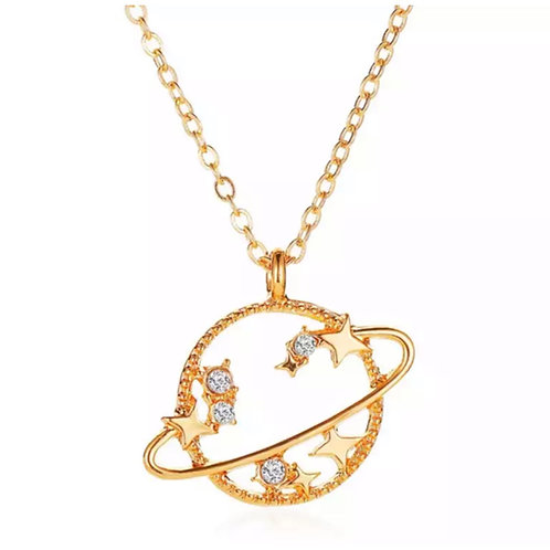 Solar Necklace Gold