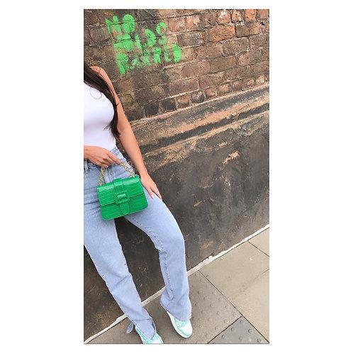 Buckle Mini Handbag Green