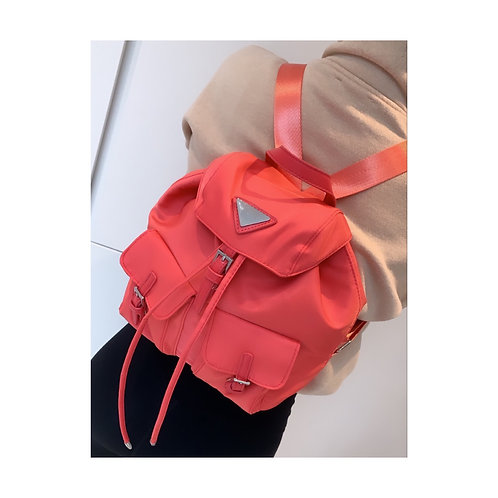 Traingle Backpack Coral
