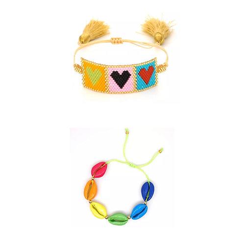 Rainbow Love Bracelet Set