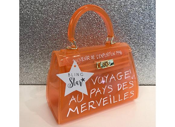 Spray Mini Perspex Tote Orange