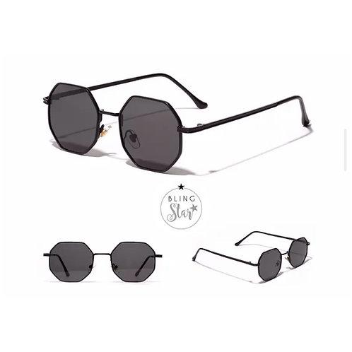Miami Retro Sunglasses Black
