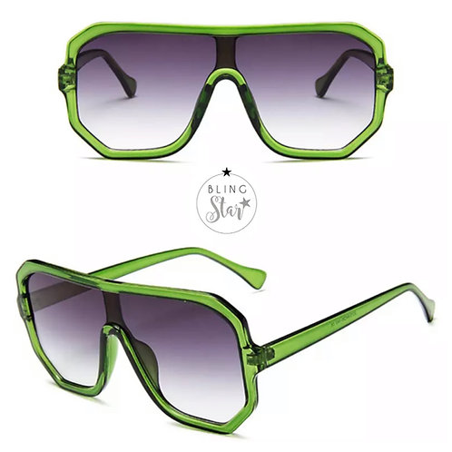 Paradise Oversized Aviator Green