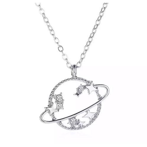 Solar Necklace Silver