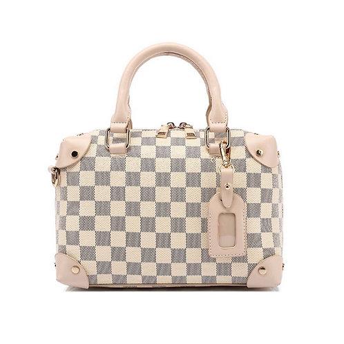 Camilla Chequer Box Bag Beige