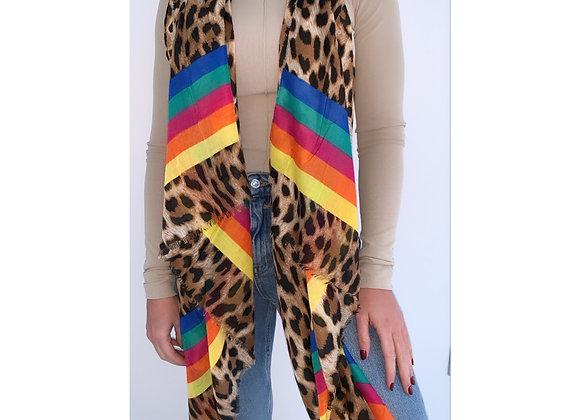Rainbow Leopard Scarf