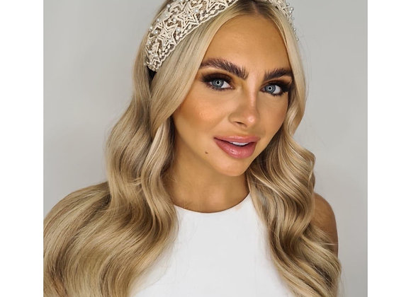 Bohemian Star Lace with Pearl Knotted Headband
