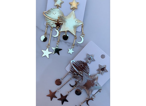 To The Moon & Stars Earrings