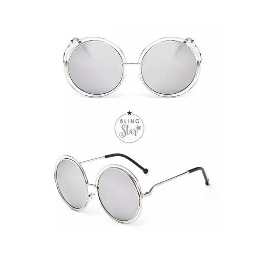 Mollie Round Sunglasses Silver