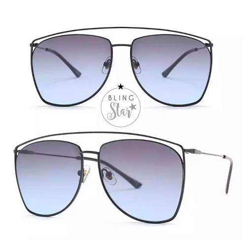 Claudia Aviators Black/Blue