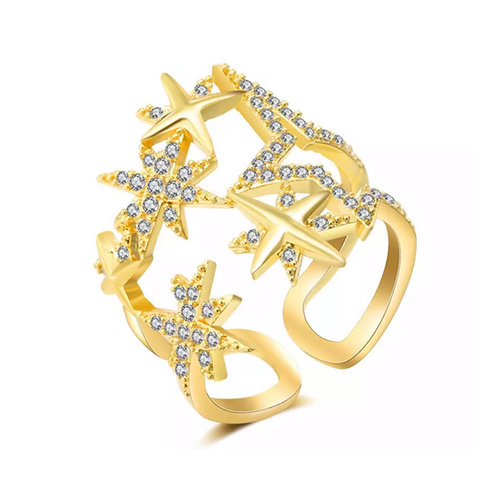 Dream Star Cluster Ring (Resizable) Gold