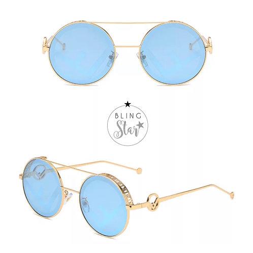Florida Round Sunglasses Blue