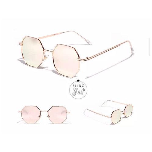 Miami Retro Sunglasses Rose Gold