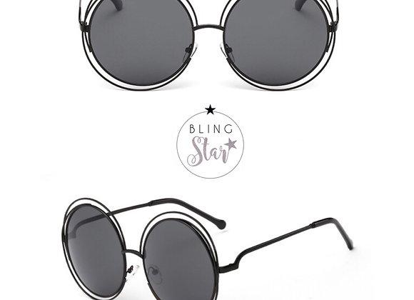 Mollie Round Sunglasses Black